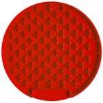Round Shape Pet Slow Feeder Silicone Anti-Choking Feeding Dish Plate – Red