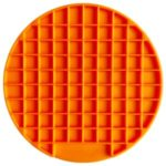 Round Shape Silicone Pet Slow Feeder Anti-Choking Feeding Dish Plate – Orange