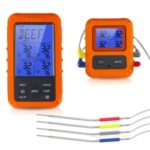TS-TP40-A Wireless Touch Screen BBQ Food Thermometer 4 Probes Waterproof