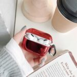 Electroplating Hard PC Protective Case for Apple AirPods Pro – Red