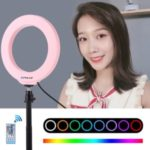 PULUZ 6.2 inch 16cm Dimmable LED Ring Light Vlogging Video Light Kits with Remote Control
