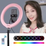 PULUZ 10.2 inch 26cm Dimmable LED Ring Vlogging Video Light Kits with Phone Clip and Remote Control