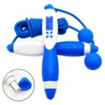 CE/ROHS Certified Smart Electronic Digital Adult Jump Rope Calorie Consumption Indoor Training Fitness Skipping Rope – White/Blue