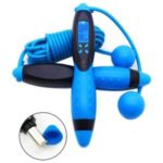 CE/ROHS Certified Smart Electronic Digital Adult Jump Rope Calorie Consumption Indoor Training Fitness Skipping Rope – Black/Blue