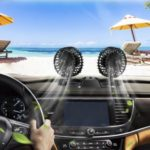 Portable Car Air Fan 12V/24V Vehicle Fan Quiet Strong Wind Rotating Cooler