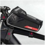 Bicycle Pouch Touchscreen Front Tube Phone Holder Waterproof Bag with Headphone Plug