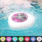 Portable Floating IPX7 Waterproof Bluetooth with LED Lamp Swimming Pool Speaker (TWS Support) – Pink