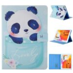 Pattern Printing Card Slots Flip Leather Tablet Protective Case for iPad 9.7-inch (2018)/(2017)/iPad Pro 9.7(2016)/iPad Air/Air2 – Panda