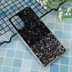 Glitter Sequins Inlaid Style TPU Protective Phone Shell for Samsung Galaxy S20 Plus – Black