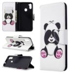 Pattern Printing Leather Wallet Cell Phone Case for Samsung Galaxy A11/M11 – Panda