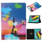 Pattern Printing Leather Stand Case with Card Slots for Samsung Galaxy Tab S6 Lite P610 P615 – Eiffel Tower