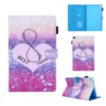 Pattern Printing Multi-angle Stand Leather Card Slot Tablet Cover for Samsung Galaxy Tab A 10.1 (2019) T510/T515 – Love Heart