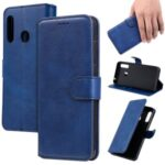 Leather Stand Phone Case Wallet Shell for Samsung Galaxy A70e – Blue