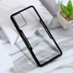 Protective Clear PC Back + Silicone Frame Phone Cover for Samsung Galaxy S20 Plus – Black