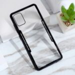 Clear PC Back + Silicone Frame Cover Shell for Samsung Galaxy A51 SM-A515/M40S – Black