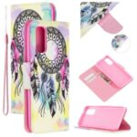 Pretty Pattern Printing Cross Texture Wallet Leather Stand Case for Samsung Galaxy A71 SM-A715 – Dream Catcher