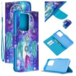 Cross Texture Patterned PU Leather Wallet Cover for Samsung Galaxy S20 Ultra – Dream Catcher