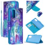 Cross Texture Pattern Printing Wallet Stand Pretty Leather Shell Case for Samsung Galaxy A51 SM-A515 – Dream Catcher