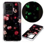 Noctilucent IMD TPU Phone Back Case for Samsung Galaxy S20 Ultra – Flower