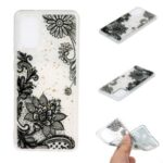 Glitter Sequins Stylish TPU Phone Shell for Samsung Galaxy S20 Ultra – Black Lace