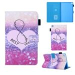 Pattern Printing Multi-angle Stand Leather Card Slot Tablet Cover for Samsung Galaxy Tab A 8.0 Wi-Fi (2019) SM-T290/T295 – Love Heart