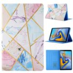 Pattern Printing Card Slots Flip Leather Tablet Case for Samsung Galaxy Tab A 10.1 (2019) SM-T510/T515 – Marble Pattern