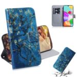 Printing Skin Leather Wallet Phone Case for Samsung Galaxy A41 (Global Version) – Flower Tree