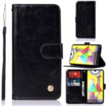 Premium Vintage Leather Wallet Case for Samsung Galaxy M31 – Black
