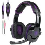 SADES SA930 3.5mm Wired Gaming Headset Professional Stereo  Gaming Headphone – Black/Purple