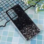 Glitter Sequins Inlaid Style TPU Cover Casing for Huawei P40 Pro – Black