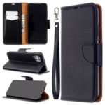 Litchi Skin Wallet Leather Stand Case for Huawei P40 Lite / Nova 7i / Nova 6 SE – Black