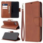 Solid Color PU Leather Cell Phone Cover for Huawei P40 lite/nova 6 SE/Nova 7i – Brown