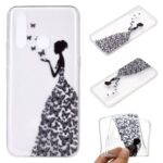 Pattern Printing TPU Soft Phone Cover for Huawei Y7p/P40 lite E – Butterfly Girl