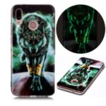 Noctilucent Patterned IMD TPU Shell for Huawei P20 Lite (2018) / Nova 3e (China) – Wolf