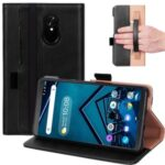 WY-2099A Business Style Stand Wallet Flip Leather Case for Lenovo Tab V7 PB-6505M – Black