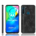 PU Leather Coated PC + TPU Case for Motorola Moto G8 Power (EU Version) – Black