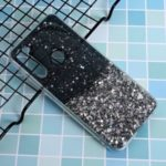 Glitter Sequins Inlaid Style TPU Shell Cover Casing for Xiaomi Redmi Note 8T – Black