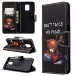 Pattern Printing Leather Wallet Protective Case for Xiaomi Redmi Note 9/Note 9S/Note 9 Pro – Fierce Bear