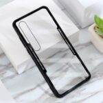 Clear PC Back + Silicone Frame Cell Phone Protective Case for Xiaomi Mi 10 – Black