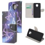 Pattern Printing Wallet Flip Leather Phone Cover Case for Xiaomi Redmi Note 9 Pro – Magic Butterflies