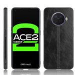 PU Leather Coated PC + TPU Combo Cover for Oppo Ace2 – Black