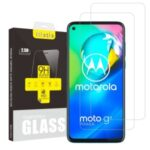 2Pcs/Set ITIETIE 2.5D 9H Tempered Glass Screen Protector Film for Motorola Moto G8 Power