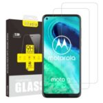 2Pcs/Set ITIETIE 2.5D 9H Tempered Glass Screen Protector for Motorola Moto G8