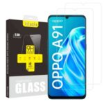 2Pcs/Set ITIETIE 2.5D 9H Tempered Glass Screen Protection Film for OPPO A91
