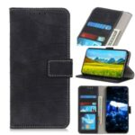 Crocodile Skin Leather Shell Stand Wallet Phone Case for Nokia 5.3 – Black