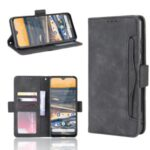Multiple Card Slots Magnetic PU Leather Shell for Nokia 5.3 – Black