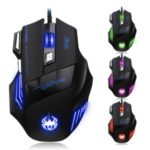 ZELOTES Professional Wired Mouse 5500DPI LED Light Optical USB Computer Gaming Mouse