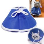 Non-woven Cone Protective Collar Pet Dogs Cat Wound Healing Protection Cover – Blue/Size: S