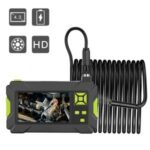 P30 5.5MM Inspection Camera Industrial Endoscope 4.3-inch Display Screen with 5M Semi-Rigid Cable – Green