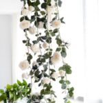 Rose Flower Garland 1.8m Hanging Rattan Wedding Greenery Party Decor – White